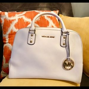 **Used Twice***Michael Kors White Leather Satchel